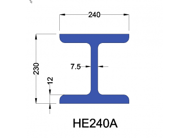 HE240A constructiebalk