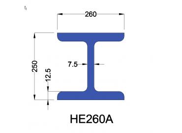 HE260A constructiebalk