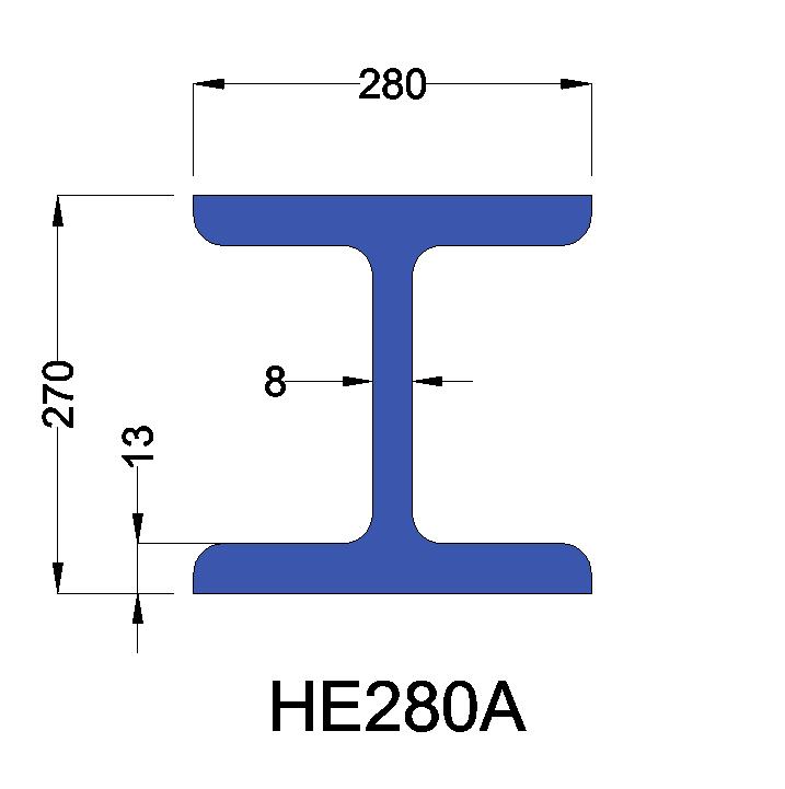 HE280A constructiebalk