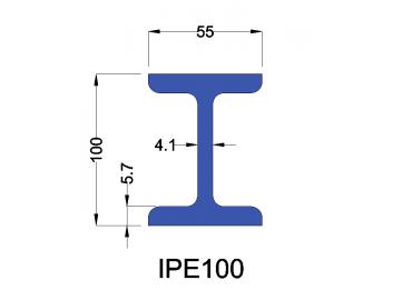 IPE100 constructiebalk