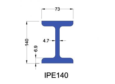 IPE140 constructiebalk