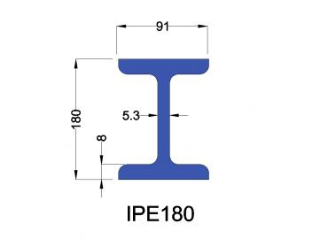 IPE180 constructiebalk