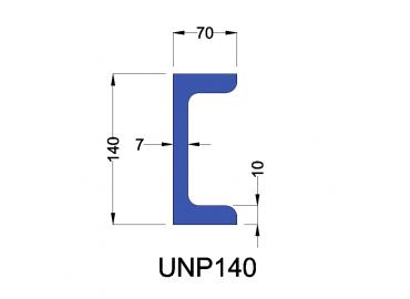 UNP140 constructiebalk