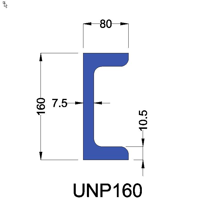 UNP160 constructiebalk