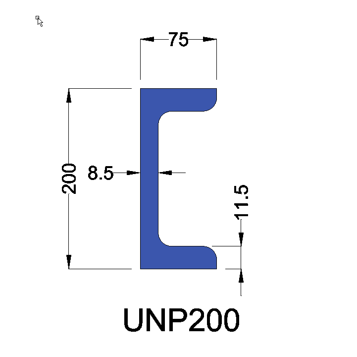UNP200 constructiebalk