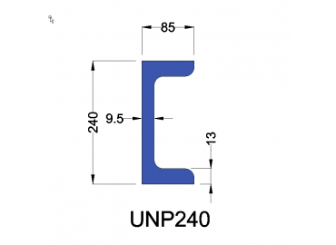 UNP240 constructiebalk