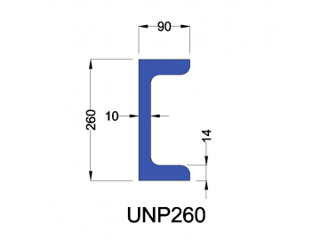 UNP260 constructiebalk