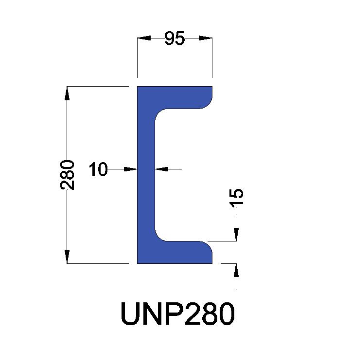 UNP280 constructiebalk