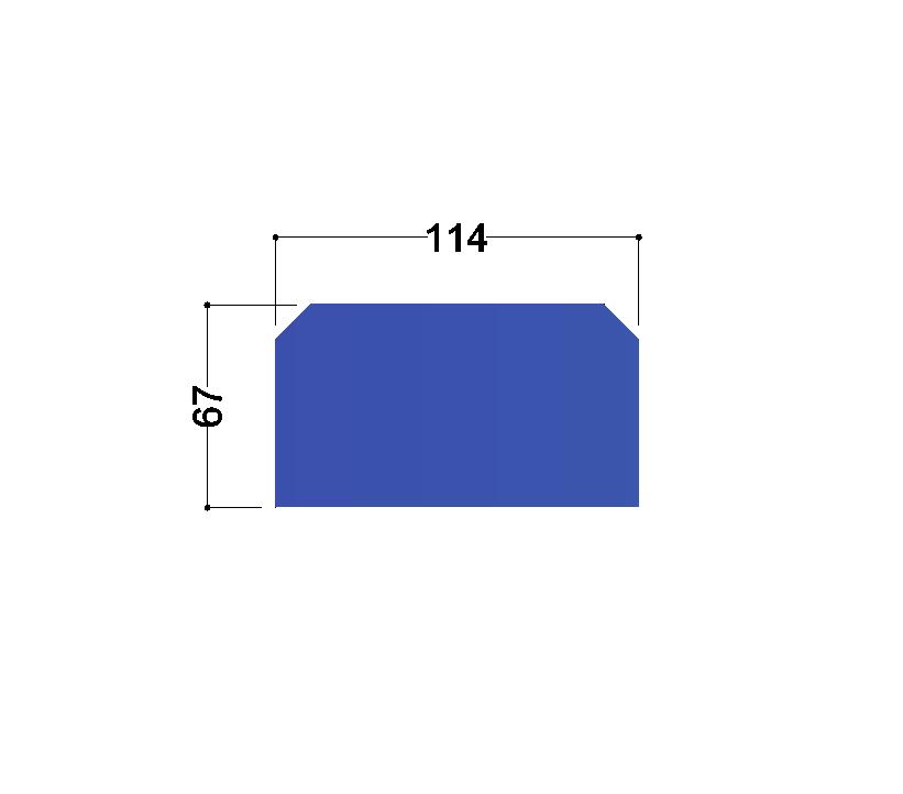HE140A tussenschot 114x67x10mm