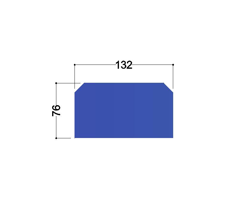 HE160A tussenschot 132x76x10mm