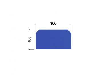 HE220A-B tussenschot 186x106x10mm