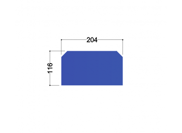 HE240A tussenschot 200x115x10mm