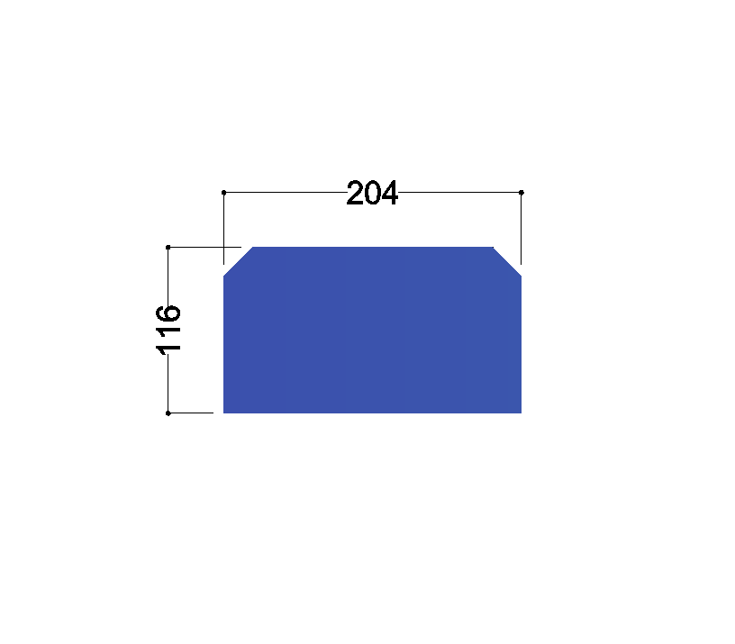 HE240A tussenschot 204x116x10mm
