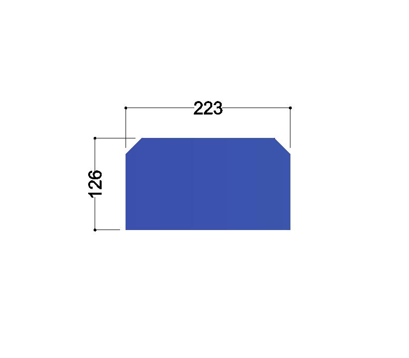 HE260A tussenschot 223x126x10mm