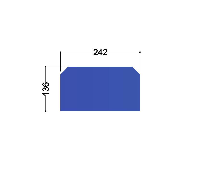HE280A tussenschot 242x136x10mm