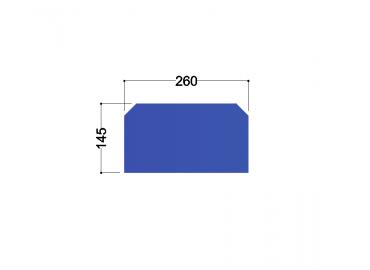 HE300A tussenschot 255x145x10mm