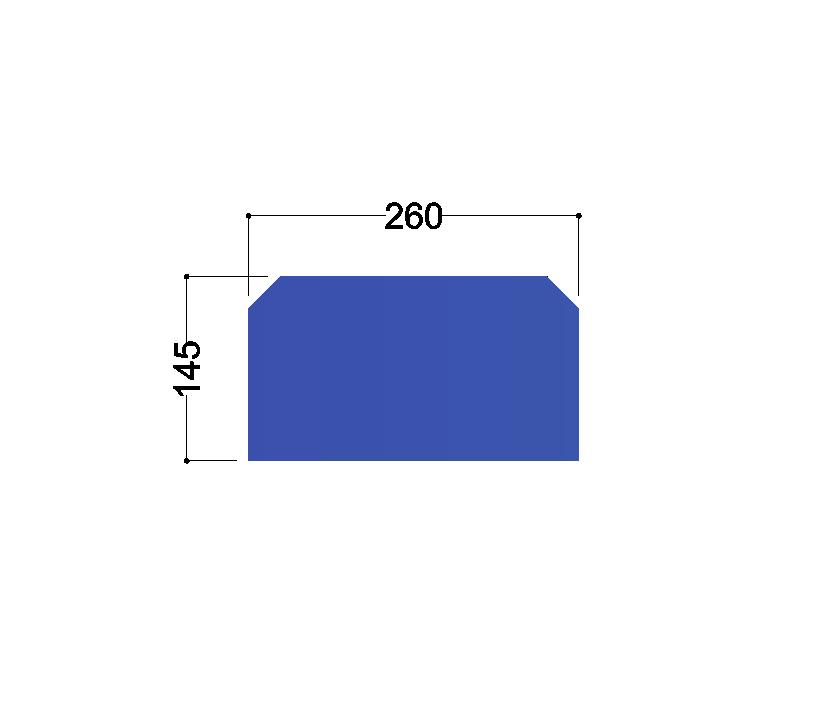 HE300A tussenschot 260x145x10mm