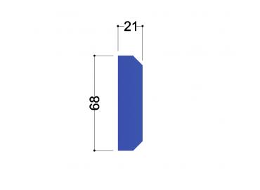 IPE 80 tussenschot 68x21x10mm