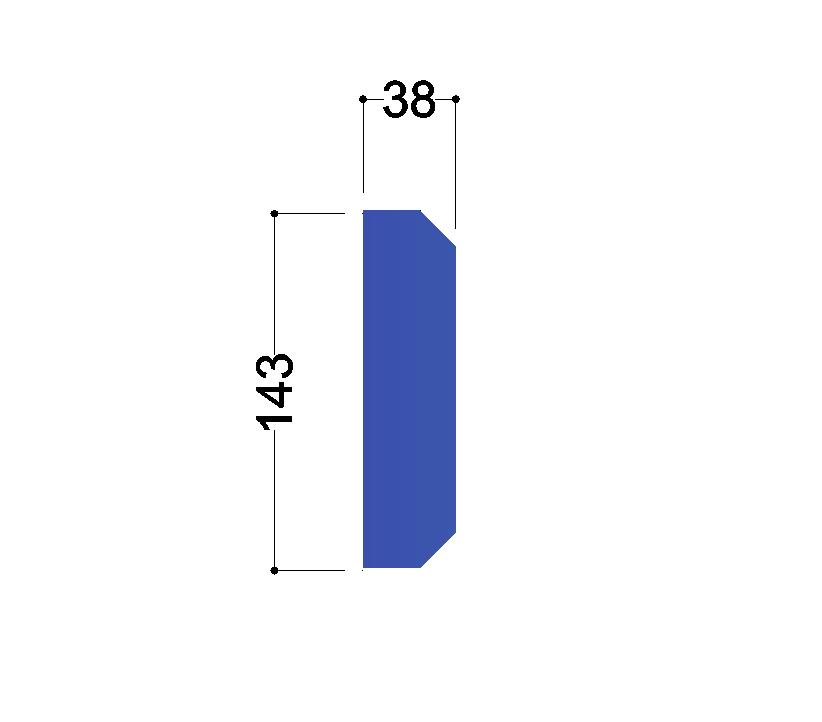 IPE 160 tussenschot 160x38x10mm
