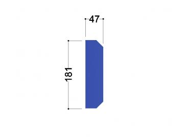 IPE 200 tussenschot 181x47x10mm