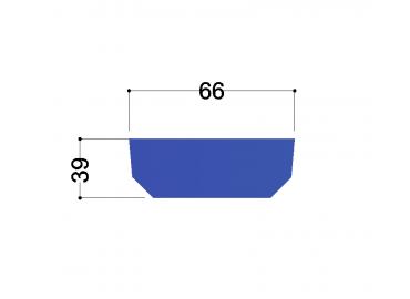 UNP80  tussenschot 70x50x10mm, 2x gat 14mm