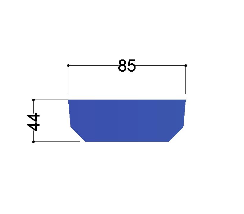 UNP100  tussenschot 85X44x10mm