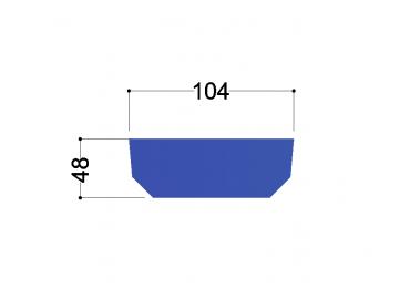 UNP120  tussenschot 104X48X10MM