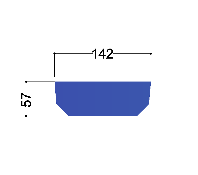 UNP160  tussenschot 142x57x10mm