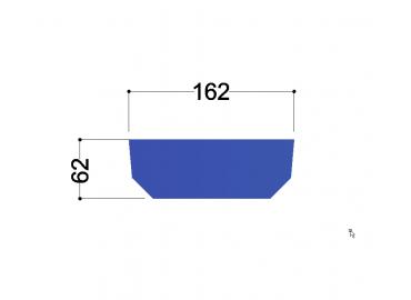 UNP180  tussenschot 162x62x10mm