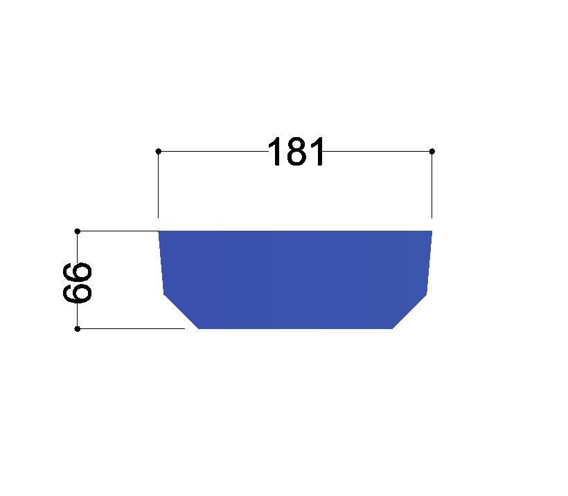 UNP200  tussenschot 181x66x10mm