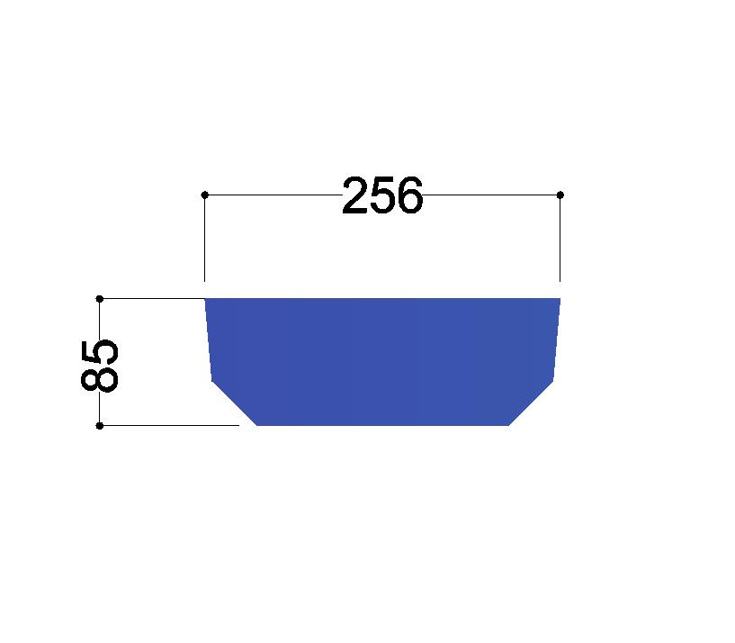 UNP280  tussenschot 256x85x10mm