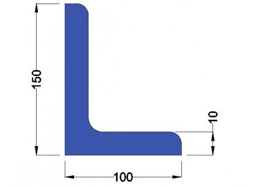 Stalen Hoekprofiel 150x100x10mm