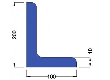 Stalen Hoekprofiel 200x100x10mm