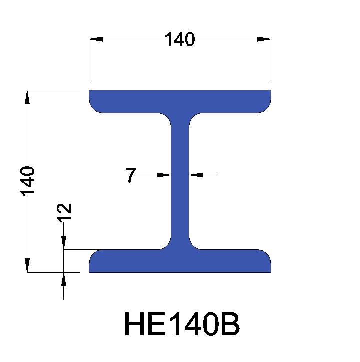 HE140B constructiebalk
