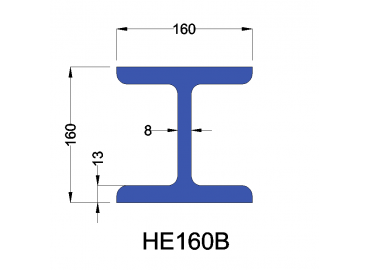 HE160B constructiebalk