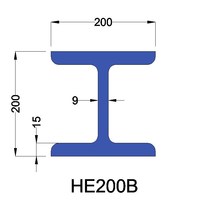 HE200B constructiebalk