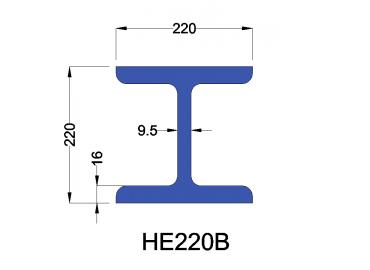 HE220B constructiebalk