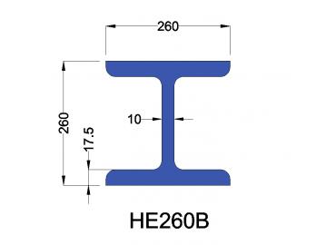 HE260B constructiebalk