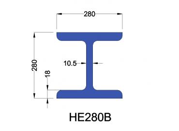 HE280B constructiebalk
