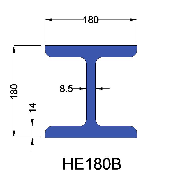 HE180B constructiebalk
